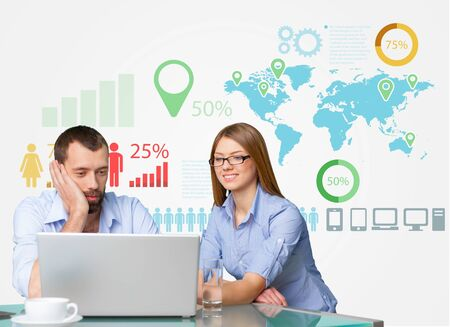 business meeting: Business, market, network. Stock Photo