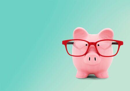 Piggy Bank, Glasses, Intelligence.
