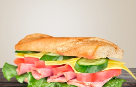 crusty french bread: Sandwich, bread, sub.