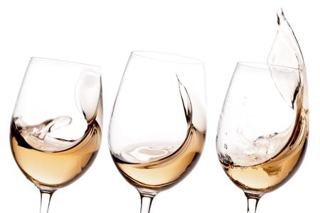ワイン、白ワイン、ガラス。