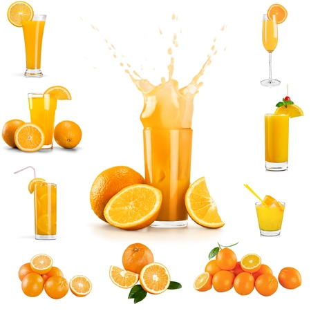 verre de jus d orange: Jus d'orange, jus de fruits, des �claboussures.