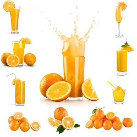 verre de jus d orange: Jus d'orange, jus de fruits, des éclaboussures.