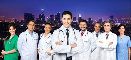 towns: Doctor, medical, group.