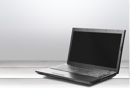 isolated on a white background: , laptop, .