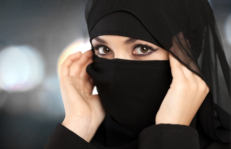 niqab: Gulf, arabian, saudi. Stock Photo