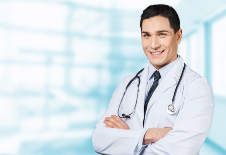 medical treatment: Doctor, physician, senior. Stock Photo