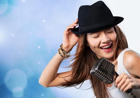 Singer, woman, person. 写真素材