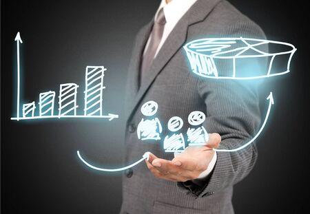 accomplish: Vision, accomplish, target. Stock Photo