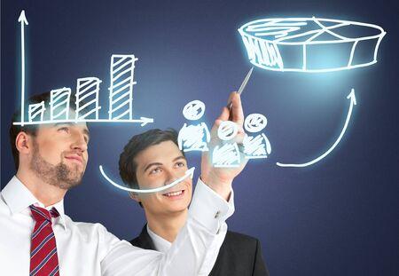 innovation leadership: Innovation, Leadership, Industry. Stock Photo