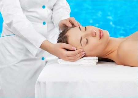 holistic: Spa, holistic, human. Stock Photo