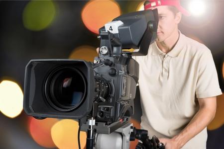 television camera: Film, camera, video.