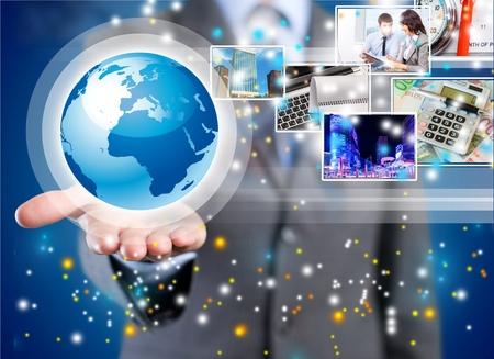Concept, de la chaîne, de la mondialisation. Banque d'images - 42706110