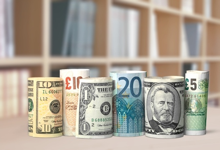 us paper currency: Currency, Currency Exchange, Stock Exchange. Stock Photo
