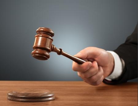 小槌、裁判所は、法律。