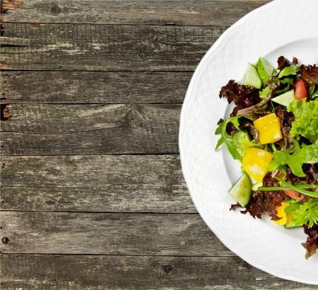 vegetarian food: Salad, Vegetarian Food, Lettuce. Stock Photo