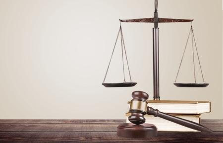 concepto equilibrio: Derecho, abogado, negocio. Foto de archivo