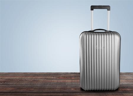 travel luggage: Suitcase, Luggage, Travel. Stock Photo
