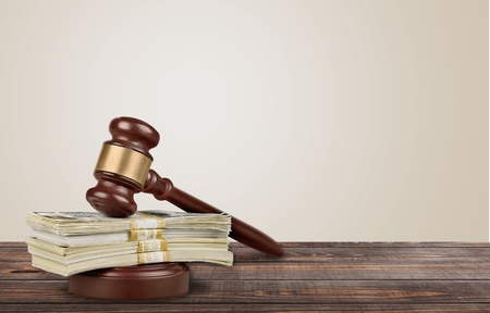 legal system: Currency, Legal System, Auction. Stock Photo