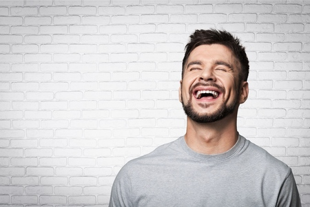 smile face: Joy, laugh, joke. Stock Photo