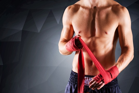 combative: Boxing, Combative Sport, Muscular Build. Stock Photo