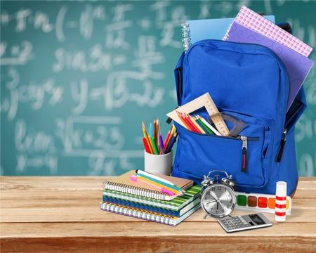 Backpack, school, isolated.