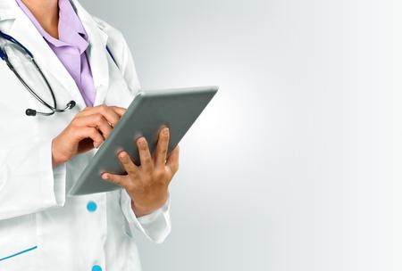 historia clinica: Doctor,, salud. Foto de archivo