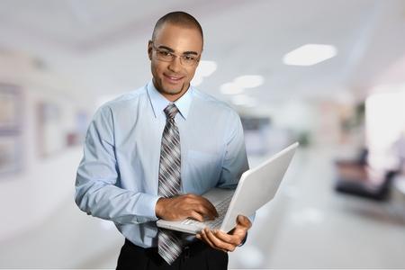 Men, Laptop, IT Support.