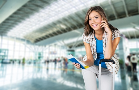 suitcase: Airport, Women, Tourist.