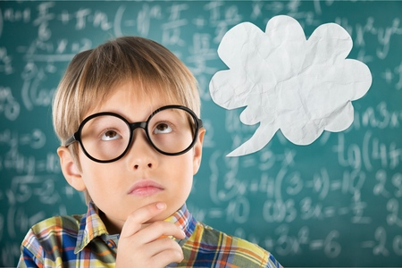 question: Question, mark, child. Stock Photo