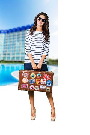 beautiful teen girl: Beach, woman, tourism.