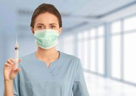 inyeccion: Jeringa, Inyectar, Enfermera.