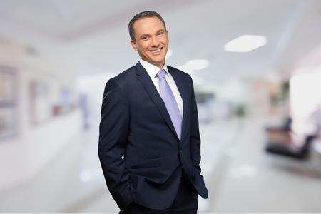 portrait view: Businessman, Men, Suit.