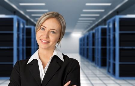 confident business woman: Businesswoman, Business, Business Person.