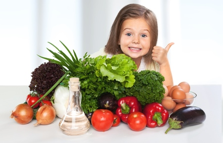 healthy choices: Eat, food, kid. Stock Photo