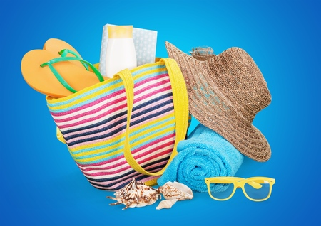 Vacanze, Estate, Borsa da spiaggia.