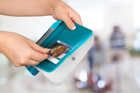 Credit Card, Wallet, Paying. Stock Photo