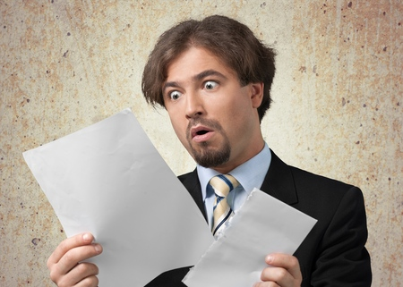 business letter: Shock, Bill, Surprise. Stock Photo