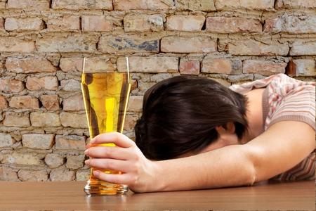 self dependent: Women, Drunk, Alcoholism.