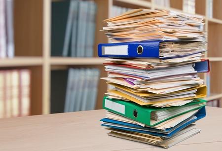 apilar: Pila, Trabajo de oficina, papel. Foto de archivo