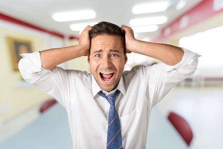 displeased: Frustration, Men, Displeased. Stock Photo