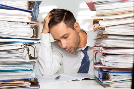 office physical pressure paper: Paperwork, Document, Emotional Stress.