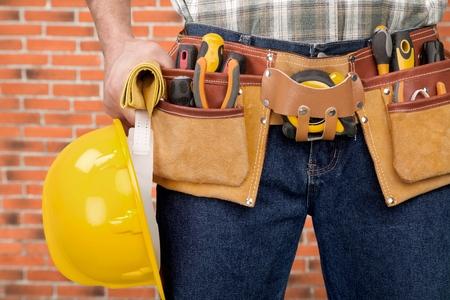work tool: Work Tool, Tool Belt, Belt. Stock Photo