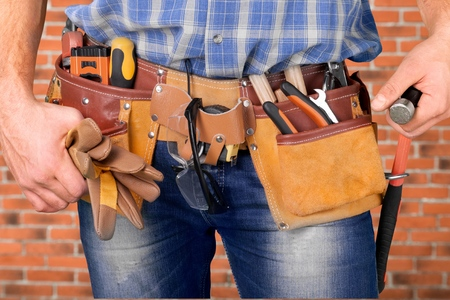 Ambachtsman, Reparateur, Tool Belt. Stockfoto - 42749125