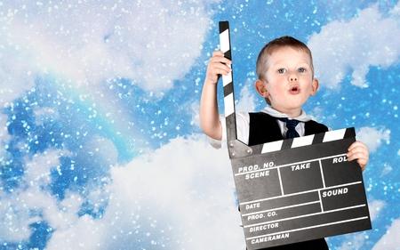 clapboard: Clapboard, movie, film.