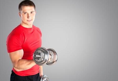 toalla: Hacer ejercicio, Hombres, Deporte. Foto de archivo