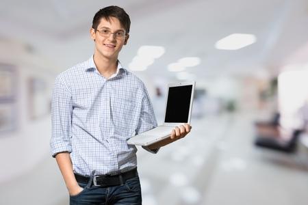 it support: Men, Laptop, IT Support.