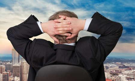powerful man: Business, businessman, businessmen. Stock Photo