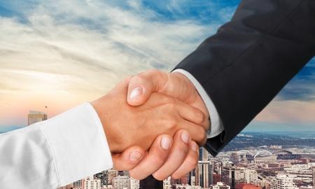 shaking out: Handshake, Business, Human Hand. Stock Photo