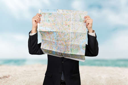 guide: Map, Direction, Guide. Stock Photo