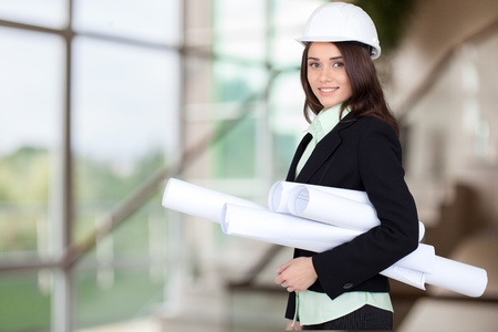 engineer: Engineer, Construction, Architect. Stock Photo